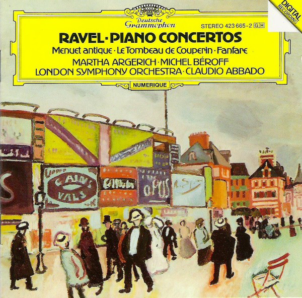 Maurice Ravel 'Piano Concertos'Martha Argerich, Michel Beroff,Claudio Abbad' CD/1988/Classic/Germany