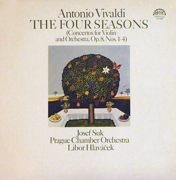 Antonio Vivaldi 'Prague Chamber Orchestra'Josef Suk'The Four Season' LP/1975/Classic/Czech/Nm