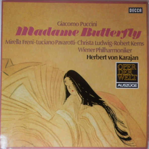 Giacomo Puccini 'Pavarotti Herbert Von Karajan 'Madame Butterfly'  LP/1974/Classica/Germany/Nmint